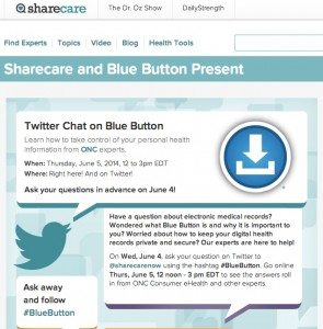 Sharecare tweetchat site screen capture