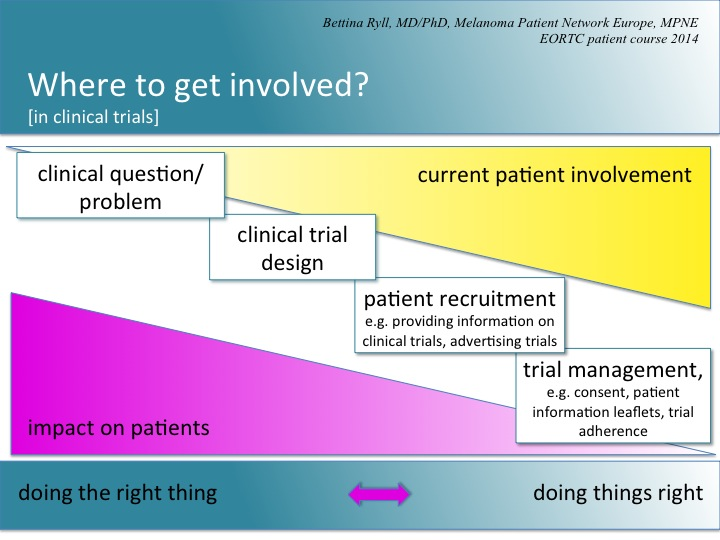 Timeline graphic - when to involve patients?