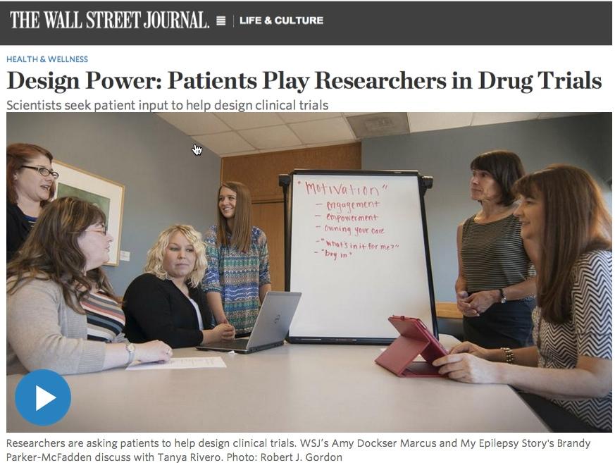 Screen capture of Wall Street Journal