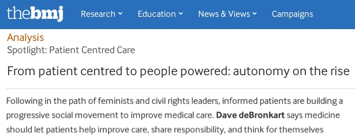 Screen capture of the article on the BMJ site
