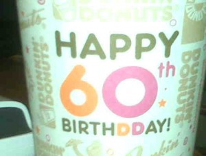Dunkin Donuts cup turning 60