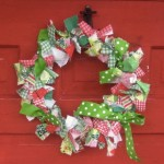 Christmas wreath HeatherKnitz