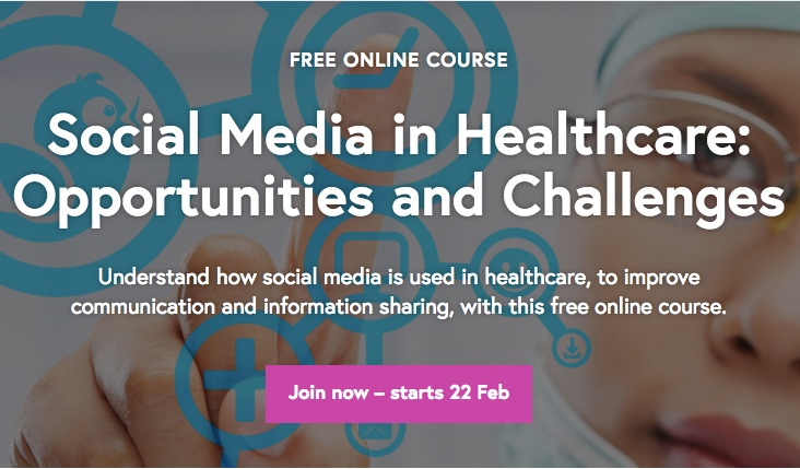 FutureLearn Social Media in Healthcare course screen capture