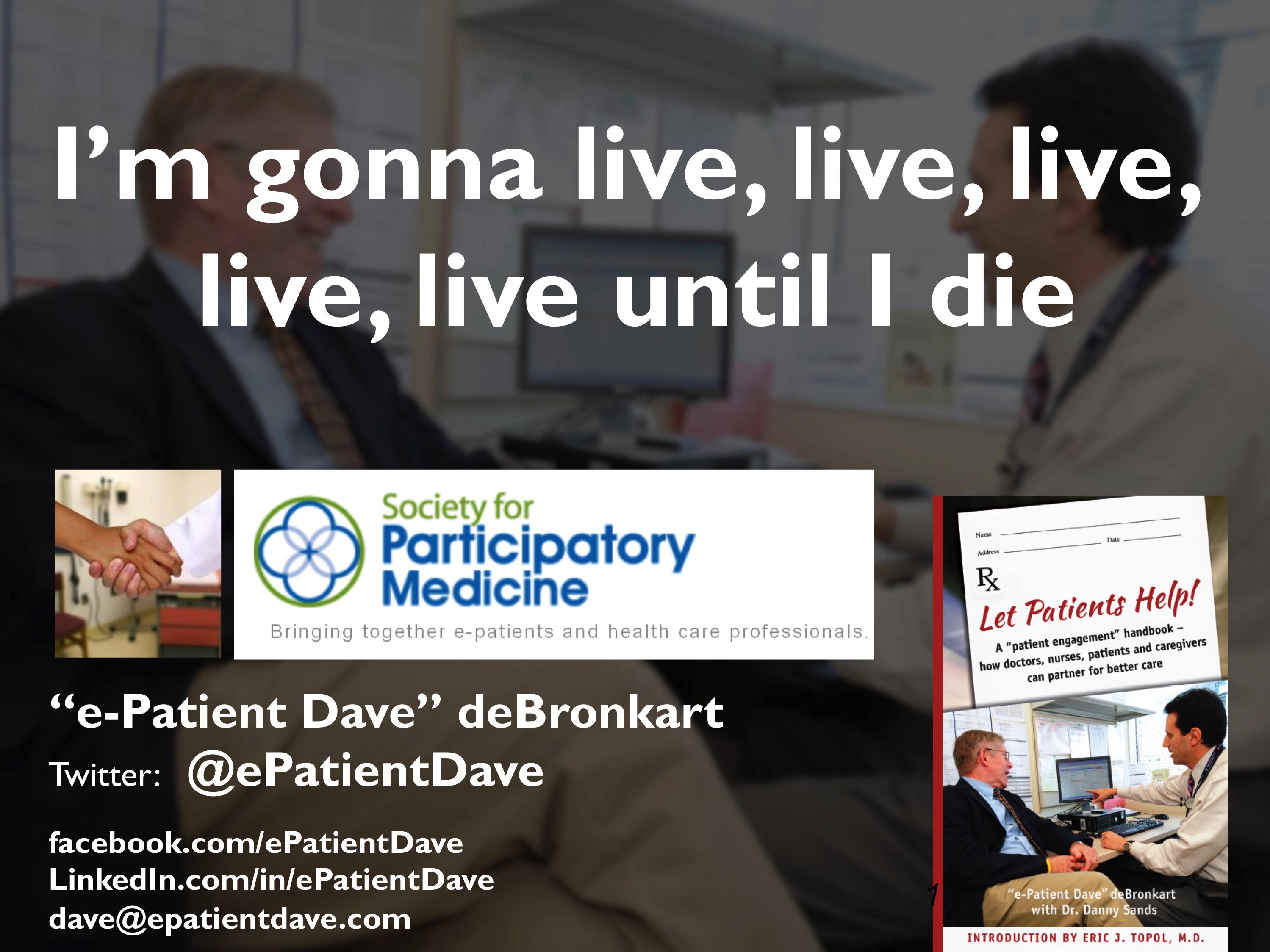 e-Patient Dave CCCC title slide