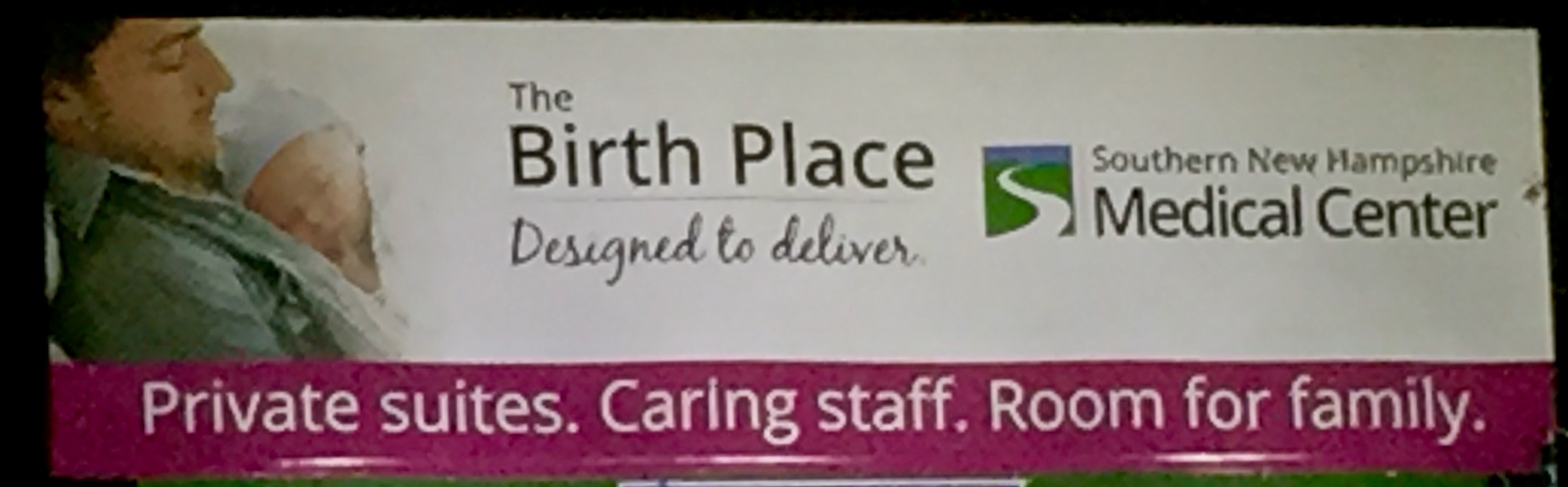 """Private suites. Caring staff. Room for family."" It's an advertising draw for maternity - let's have it in all care!"